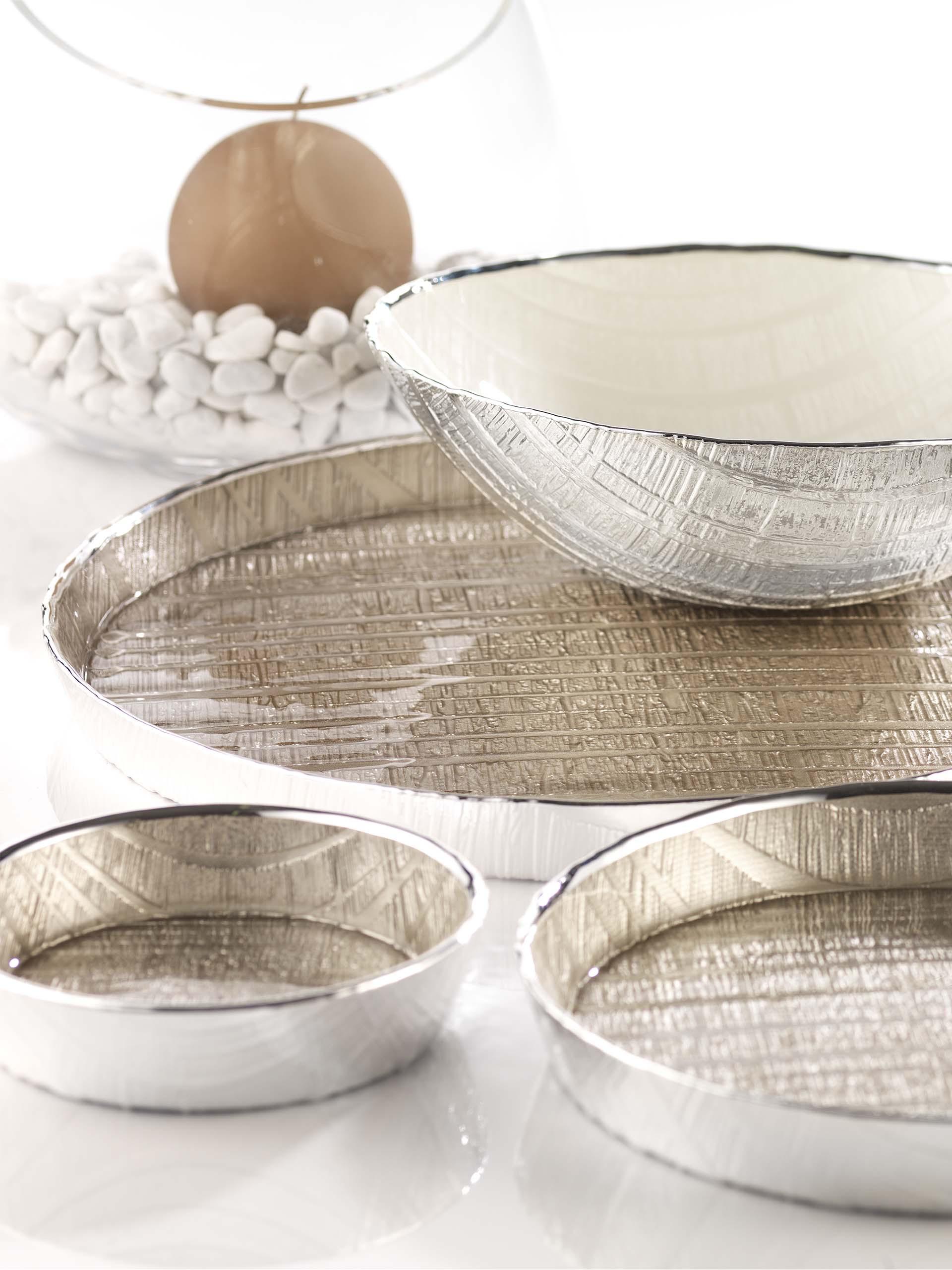 Vassoi e porta oggetti in argento Saronno, Varese, Como